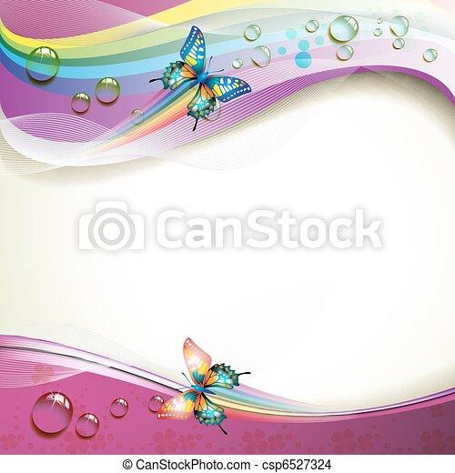 borboletas, fundo - csp6527324