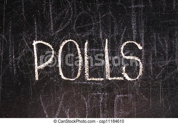 bord, geschreven, poll - csp11184610