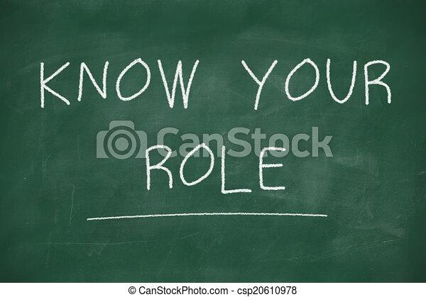 bord, met de hand geschreven, rol, weten, jouw - csp20610978