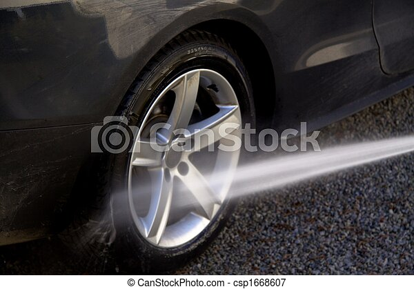 bord, nettoyage, pneu - csp1668607