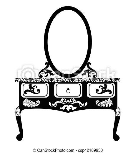 bord, påklädning, spegel - csp42189950