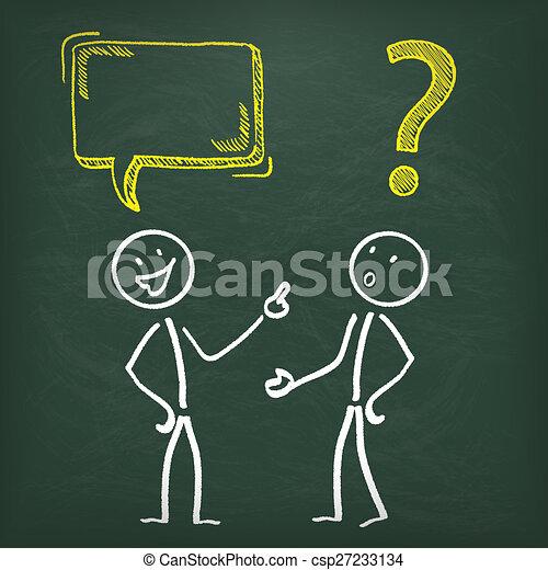 bord, probleem, 2, stickman, communicatie - csp27233134
