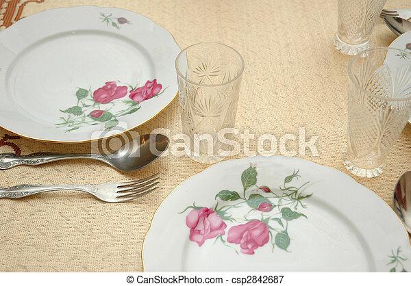 bord, tjänat, restaurang - csp2842687