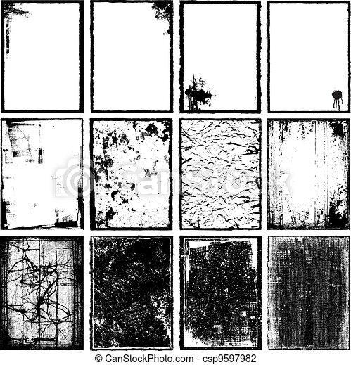 bordas, texturas, & - csp9597982