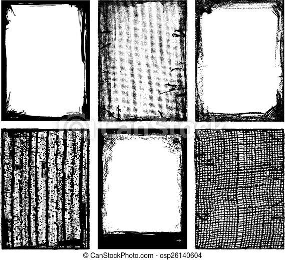bordas, texturas, vetorial, & - csp26140604