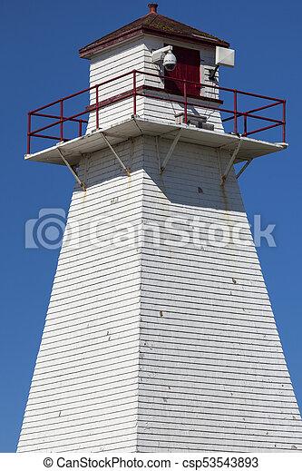 El faro trasero de Port Borden en la isla del príncipe Edward - csp53543893