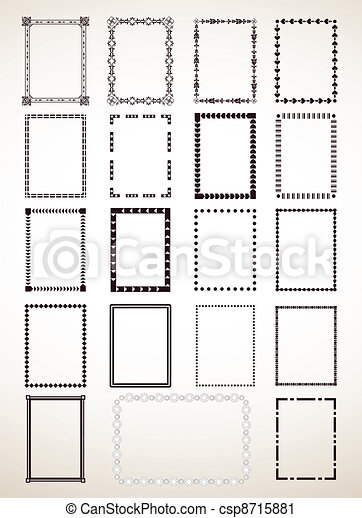 Border Frame Set. Vector - csp8715881