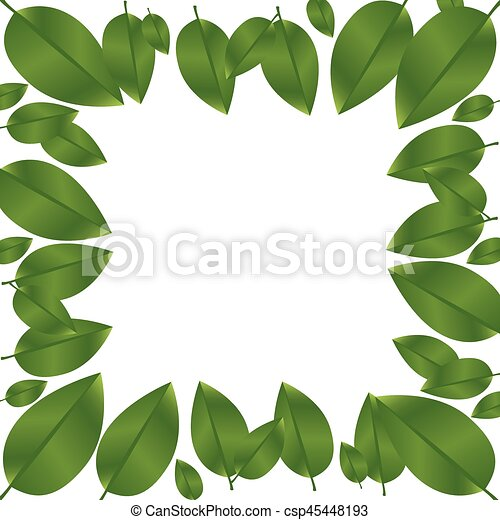 border green leaves with branch nature icon vector eps vectors rh canstockphoto com leaf vector art leaf vector art