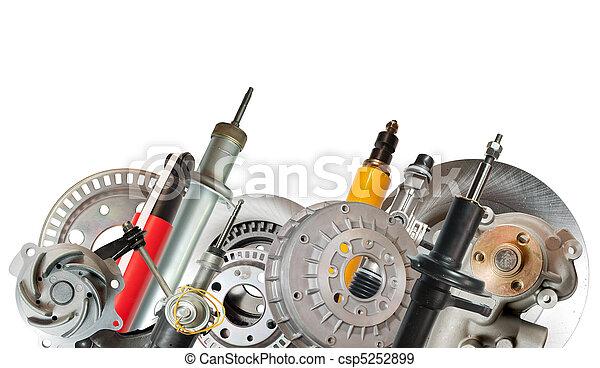 Border of car parts - csp5252899