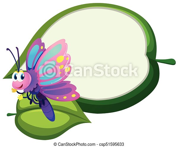 border template with cute butterfly illustration vectors search rh canstockphoto com butterfly border clipart black and white butterfly border clipart
