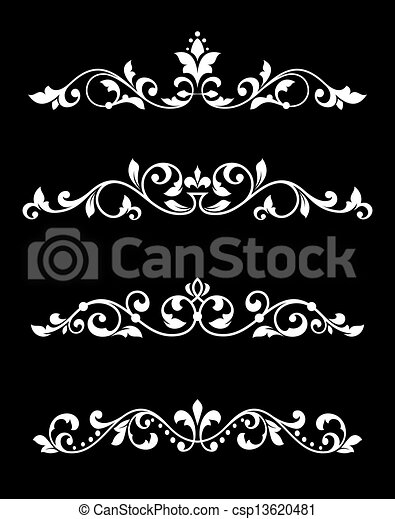 Borders and dividers in retro style - csp13620481