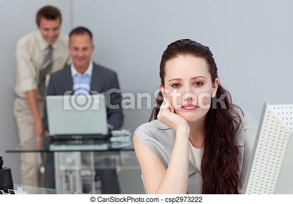 Bored attractive businesswoman  - csp2973222