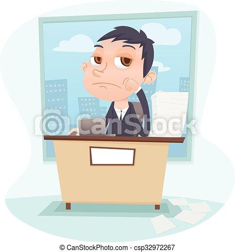 bored businessman - csp32972267
