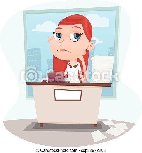 bored businesswoman - csp32972268