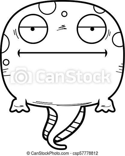bored cartoon tadpole a cartoon illustration of a tadpole vector rh canstockphoto com tadpole clipart black and white tadpole clipart free