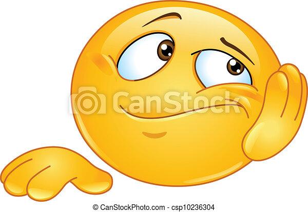 Bored emoticon - csp10236304