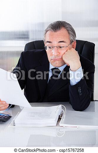 Bored Mature Businessman - csp15767258