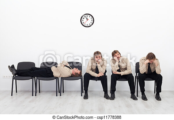 Bored people waiting - csp11778388