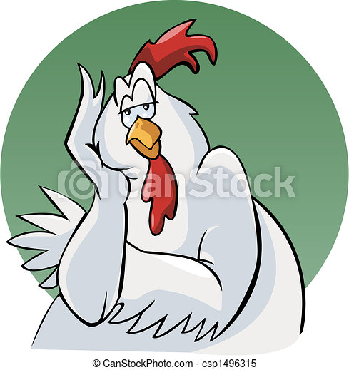 Bored rooster - csp1496315