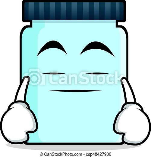 Boring face jar character cartoon style - csp48427900