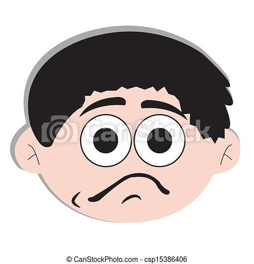 boring face - csp15386406