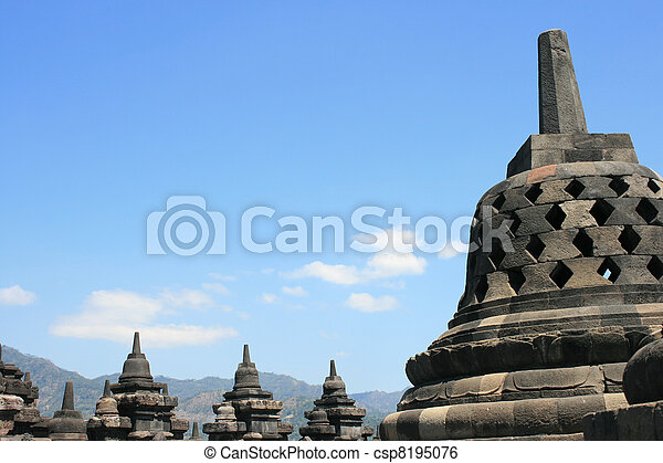 Borobudur, Indonesia - csp8195076