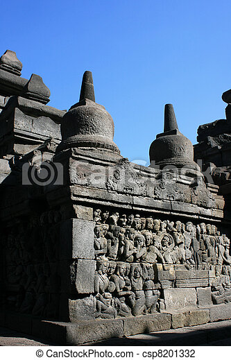 Borobudur, Indonesia - csp8201332