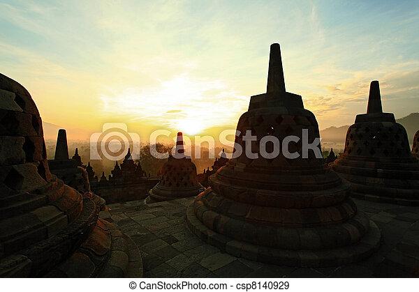 Borobudur Sunrise - csp8140929