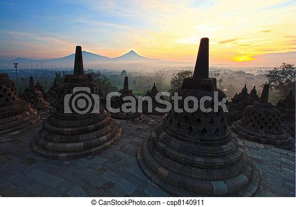 Borobudur Temple Indonesia - csp8140911