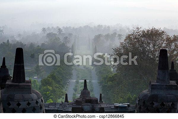 Borobudur Temple Indonesia Sunrise - csp12866845
