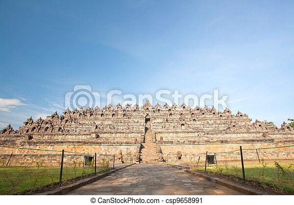 Borobudur Temple Ruin - csp9658991