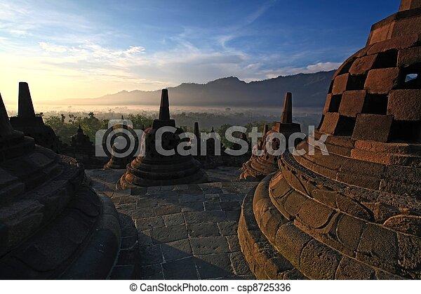 Borobudur Temple Stupa Indonesia - csp8725336