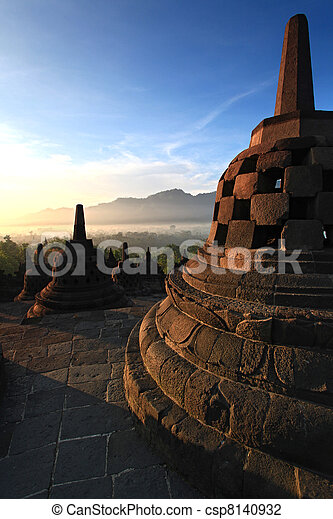 Borobudur Temple Stupa - csp8140932