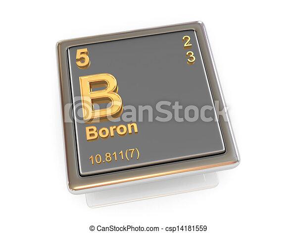 Boron Chemical Element 3d