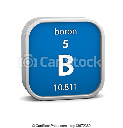 Boron Material Sign Boron Material On The Periodic Table Part Of A