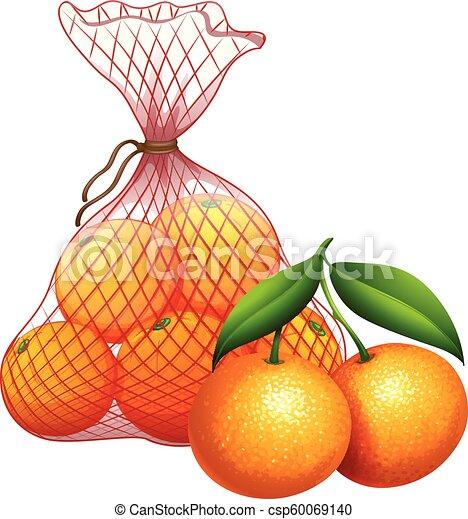 borsa, mandarino - csp60069140
