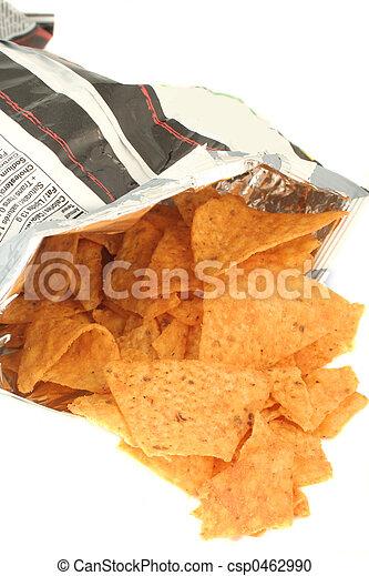 borsa, patatine fritte - csp0462990