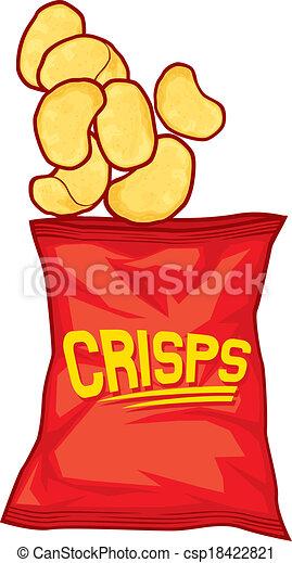 borsa, patatine fritte, patata - csp18422821