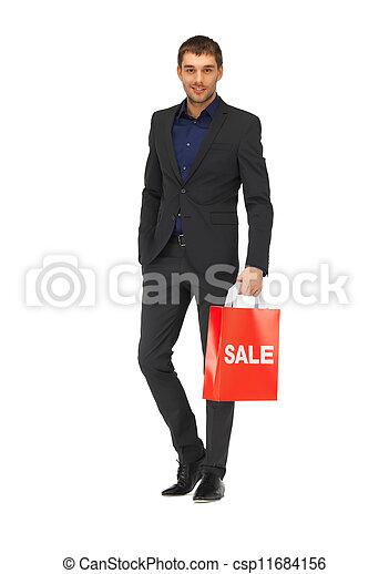 borse, bello, shopping, uomo, completo - csp11684156