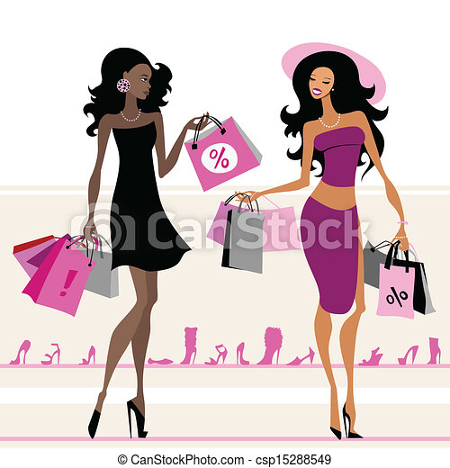borse, shopping, donne - csp15288549