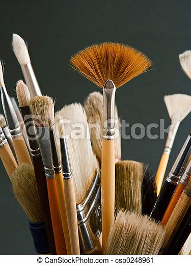 borstels, kunstenaar - csp0248961
