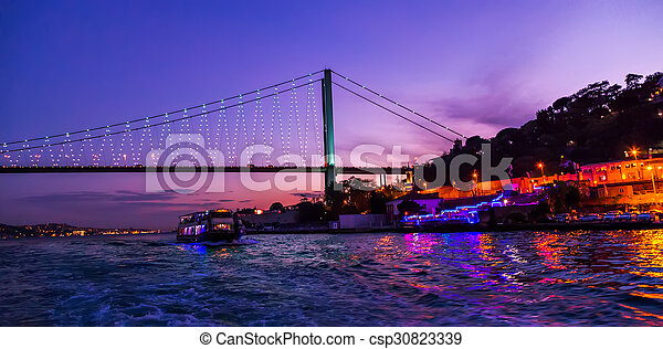 Bosphorus Bridge at sunse - csp30823339