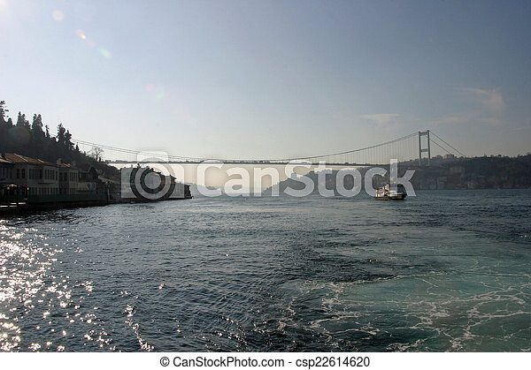 Bosphorus bridge in Istanbul, Turkey - csp22614620