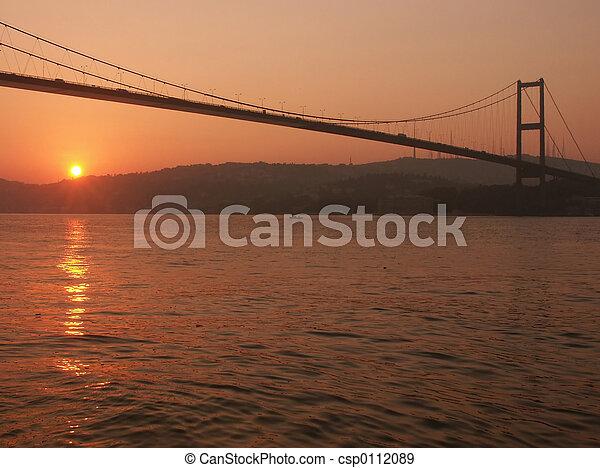 Bosporus bridge at - csp0112089