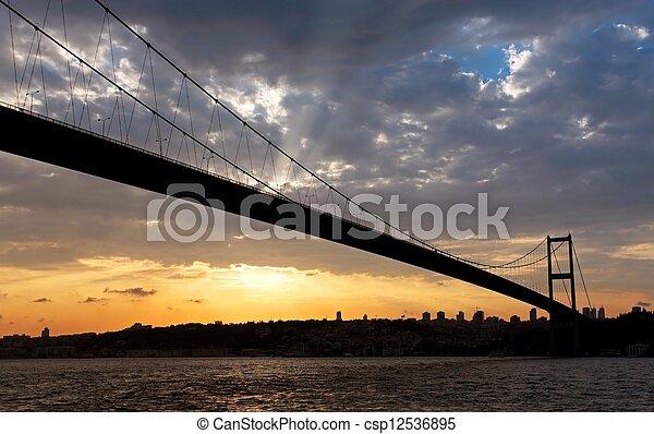 Bosporus bridge at Sunset - csp12536895