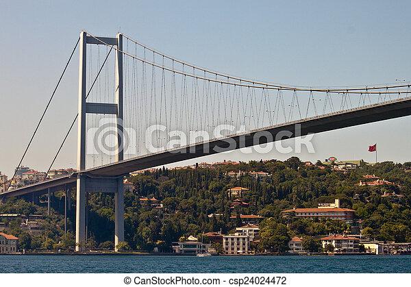 Bosporus bridge in Istanbul - csp24024472