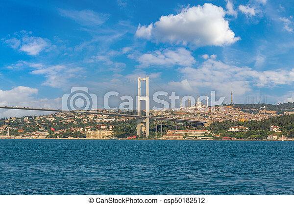 Bosporus bridge in Istanbul - csp50182512