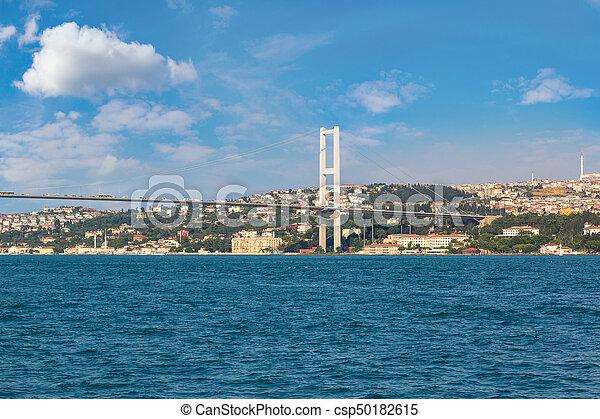 Bosporus bridge in Istanbul - csp50182615
