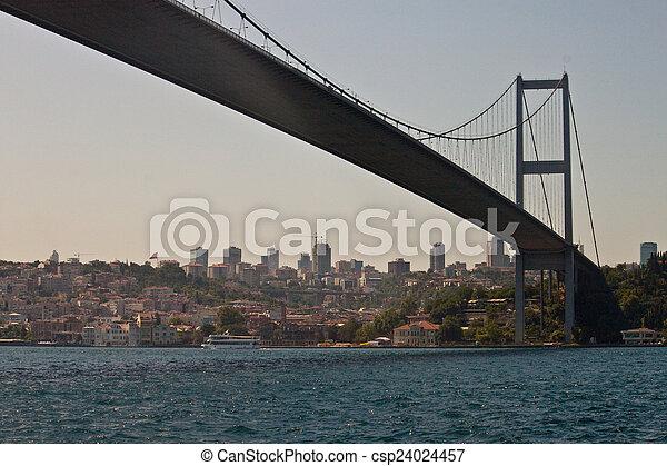 Bosporus bridge in Istanbul - csp24024457