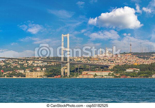 Bosporus bridge in Istanbul - csp50182525